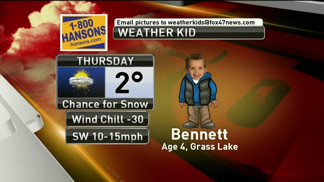 Weather Kid - Bennett - 1/31/19