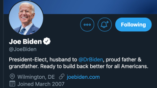 Biden and Harris update Twitter profiles as they are projected winners