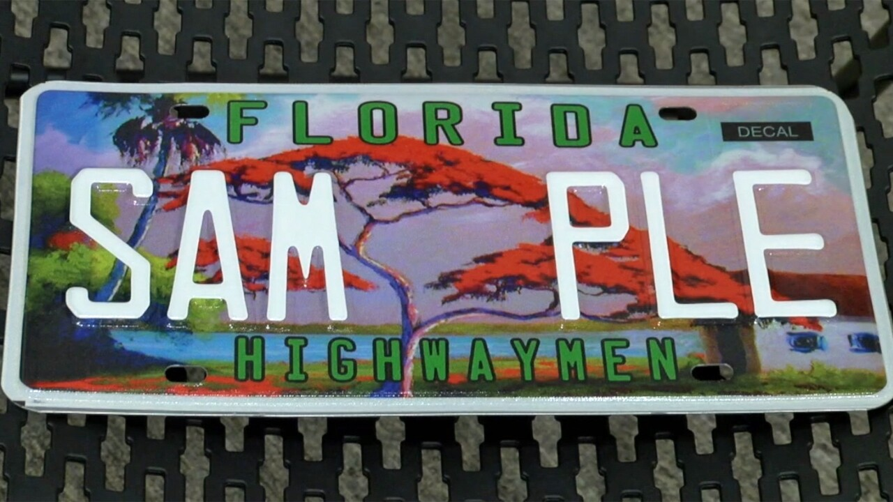 A new specialty license plate has been created in honor of the South Florida artists known as the Highwaymen.