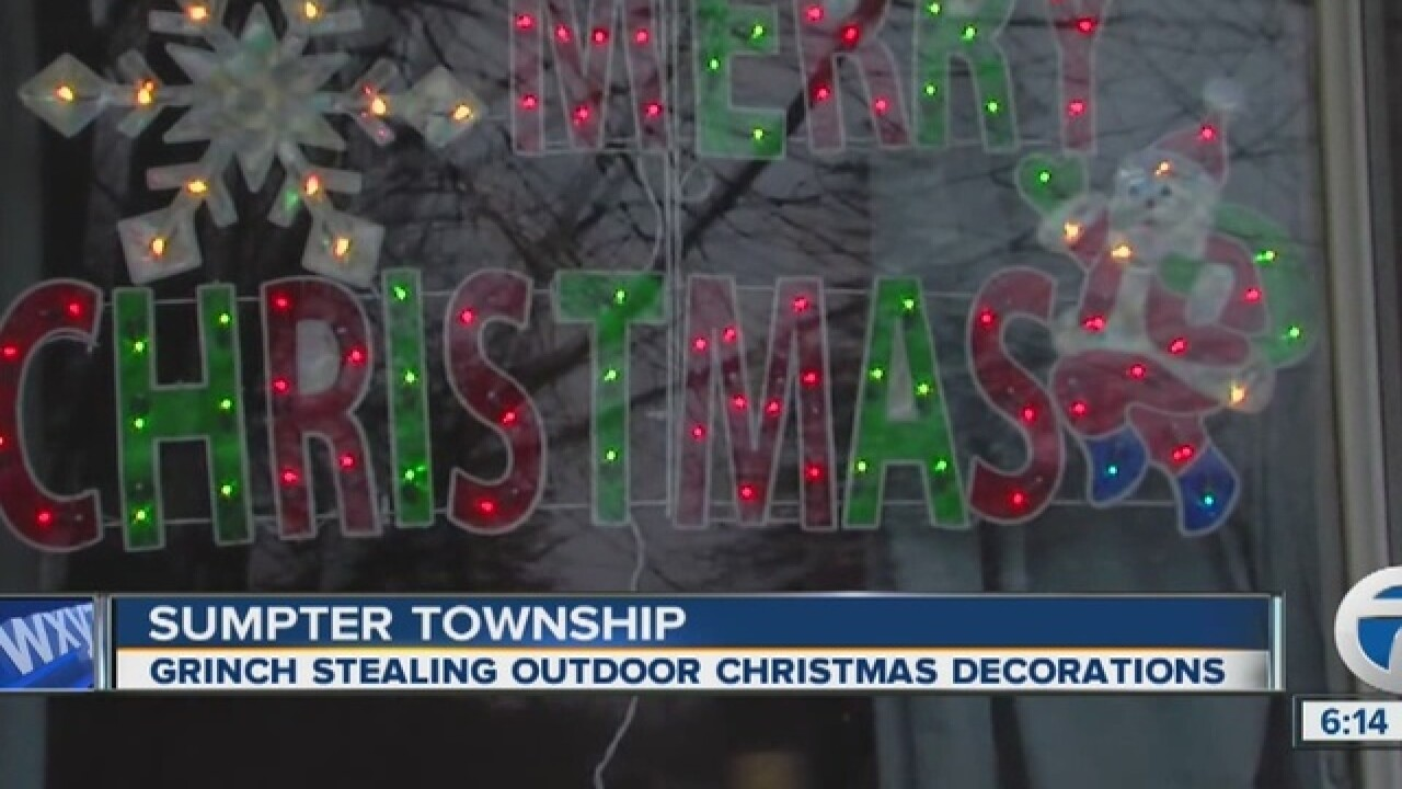 Police In Sumpter Township Investigate Grinch Stealing Christmas