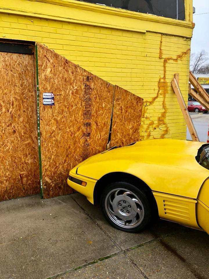 Photos: Car crashes into Norfolk military surplus store for second time in 6 months