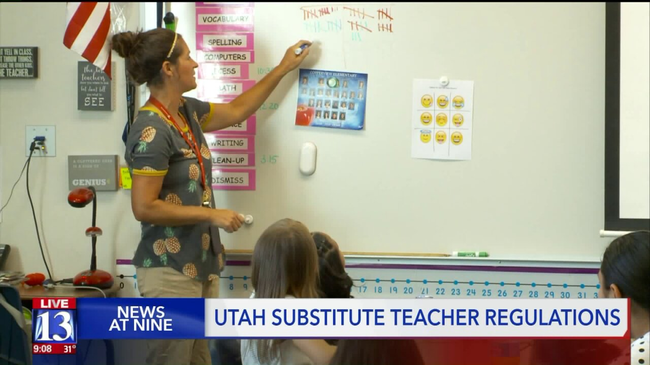 What does it take to be a substitute teacher in Utah?