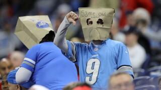 Lions_fan_paper_bag_Tampa Bay Buccaneers v Detroit Lions