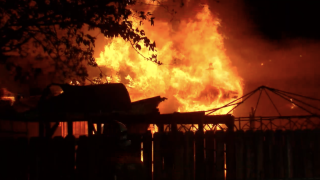Bakersfield Fire Department battles garage fire in East Bakersfield