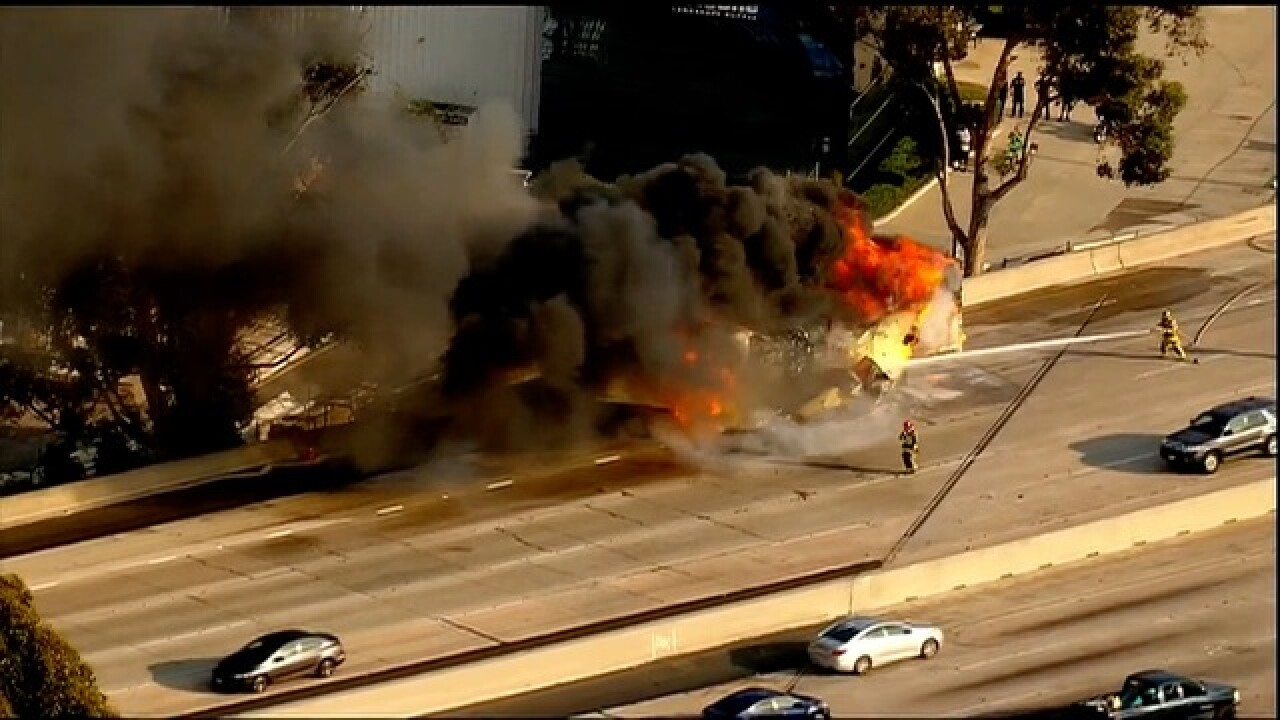 One dead in fiery crash on I-8 involving truck