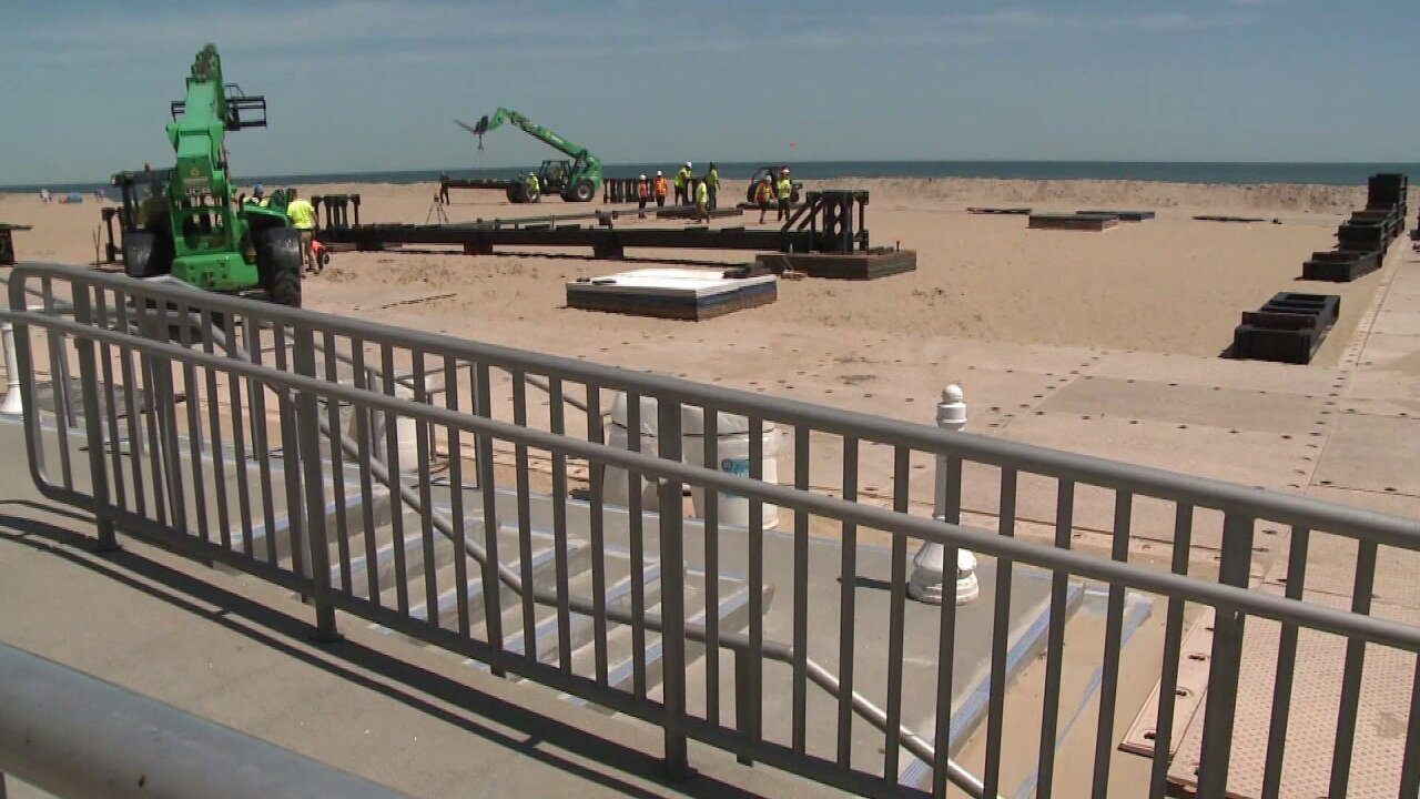 Public Works prepares Oceanfront for Something in the Water festival