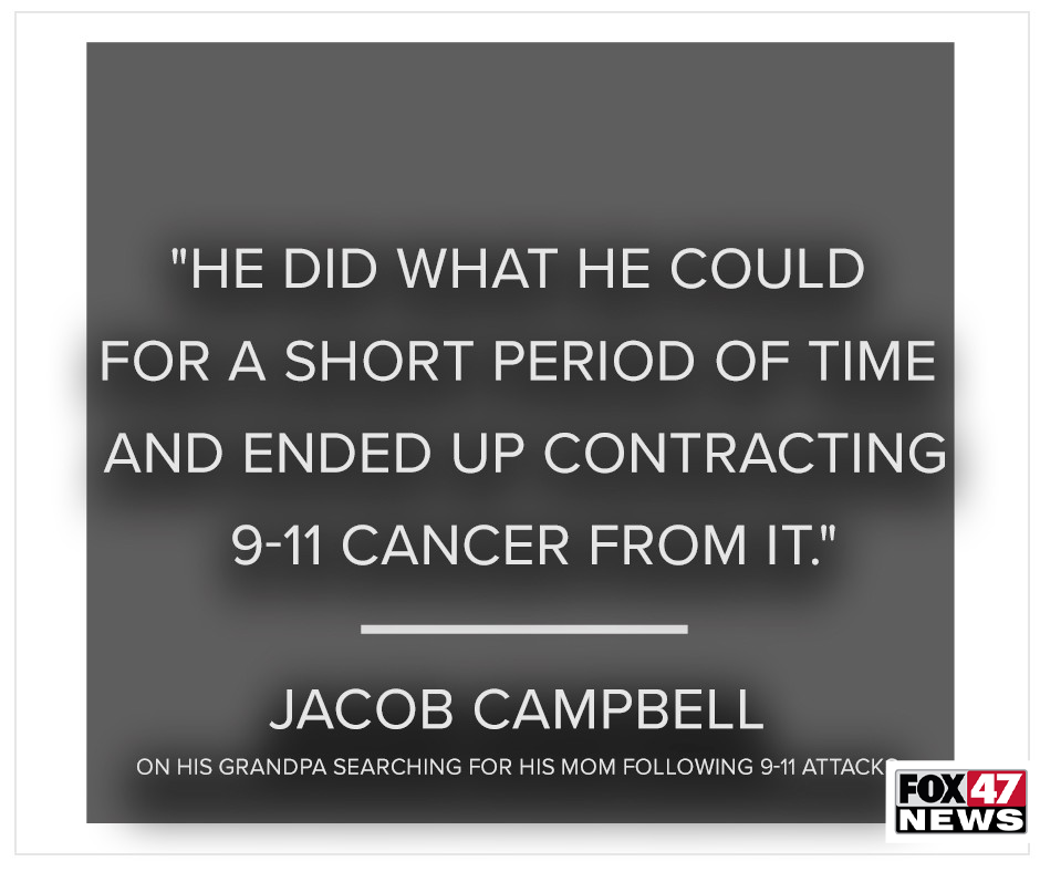 On Jacob Campbell's grandfather searching for his mother following the 9/11 attacks