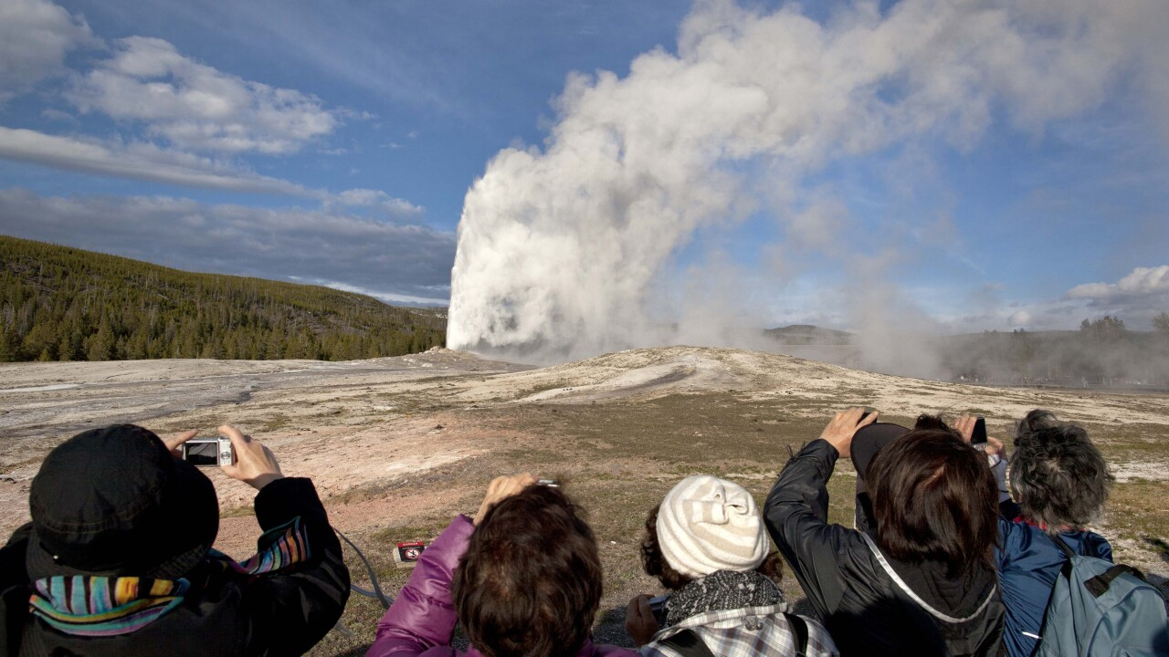 Woman falls into thermal feature in closed Yellowstone National Park