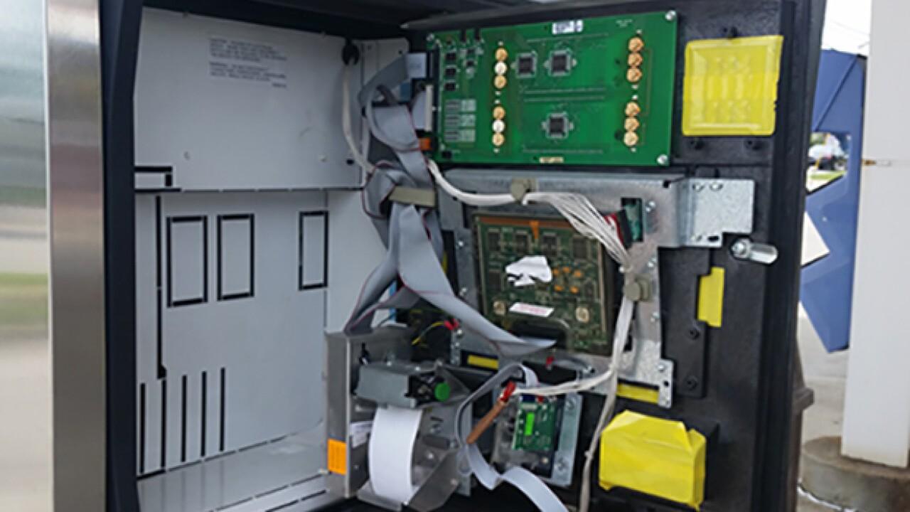 Credit card skimmer found in Brunswick gas pump