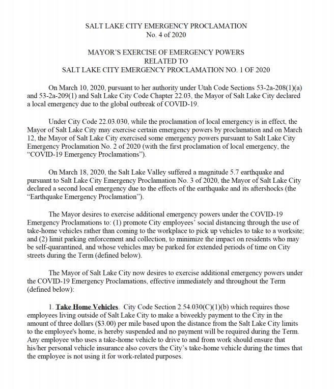 City declaration