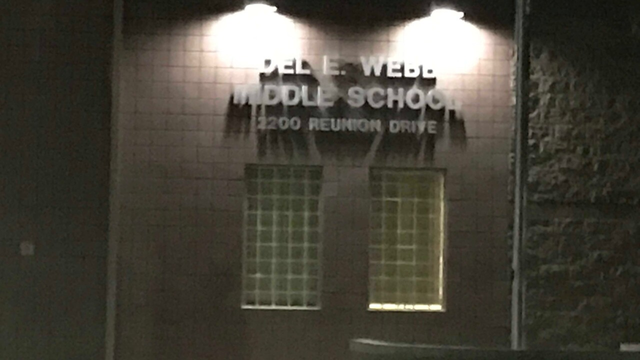Photos of Del Webb Middle School located in Henderson which were taken in Oct. 2019