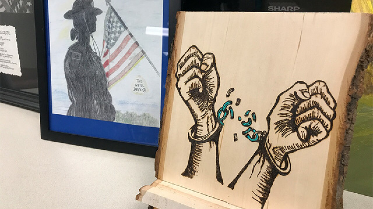 First responders recovering from PTSD create art