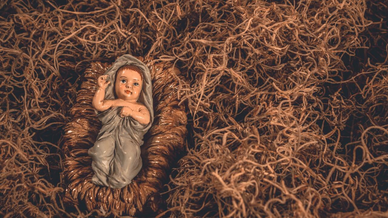 Baby Jesus Nativity scene