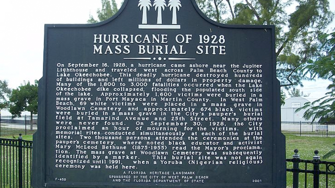 90th anniversary of 'Okeechobee Hurricane'
