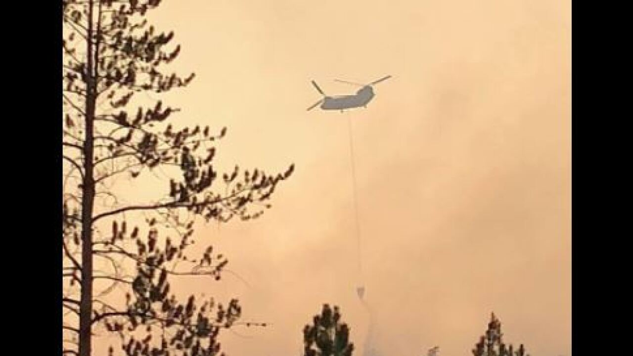 'Cobblerest Fire' burning north of Mirror Lake in Summit County
