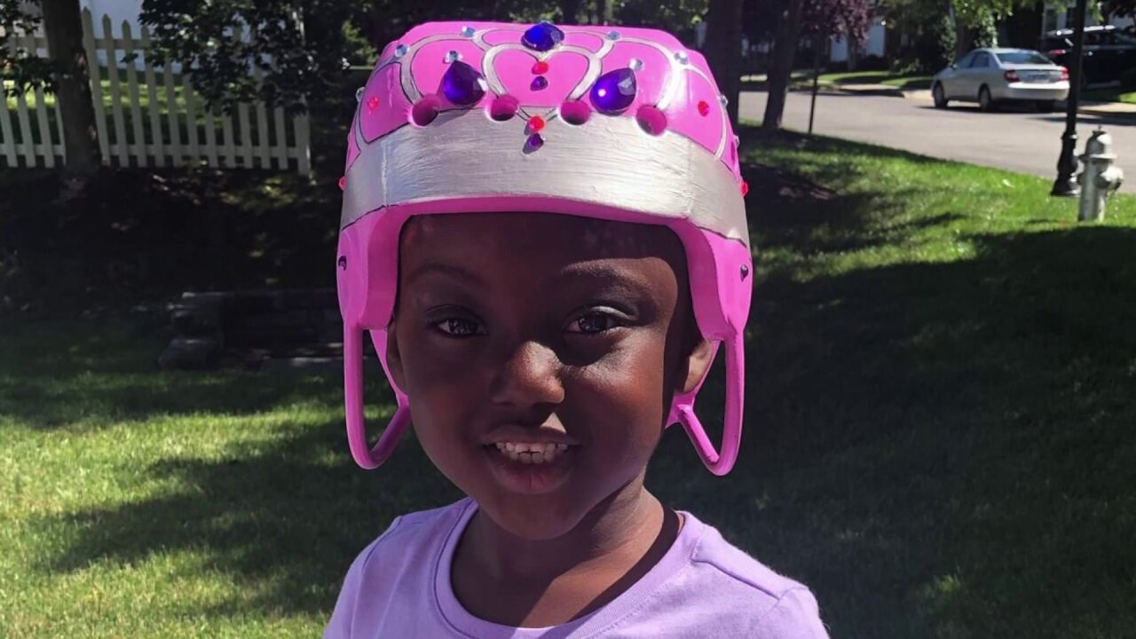 Artist transforms helmet into tiara for 5-year-old who was shot in the head