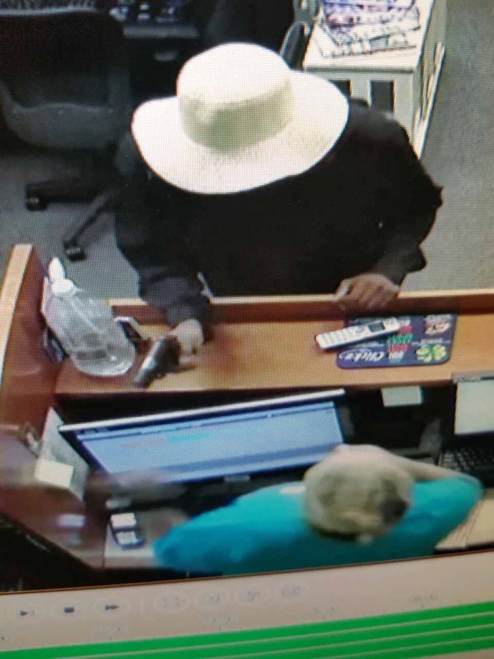 Photos: Man wearing white floppy hat wanted for Dinwiddie armed robbery