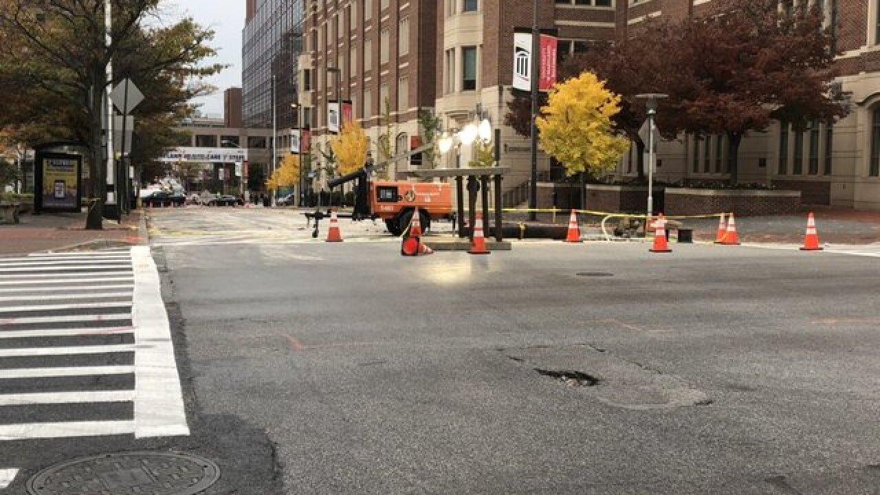 Massive water main break closes city streets