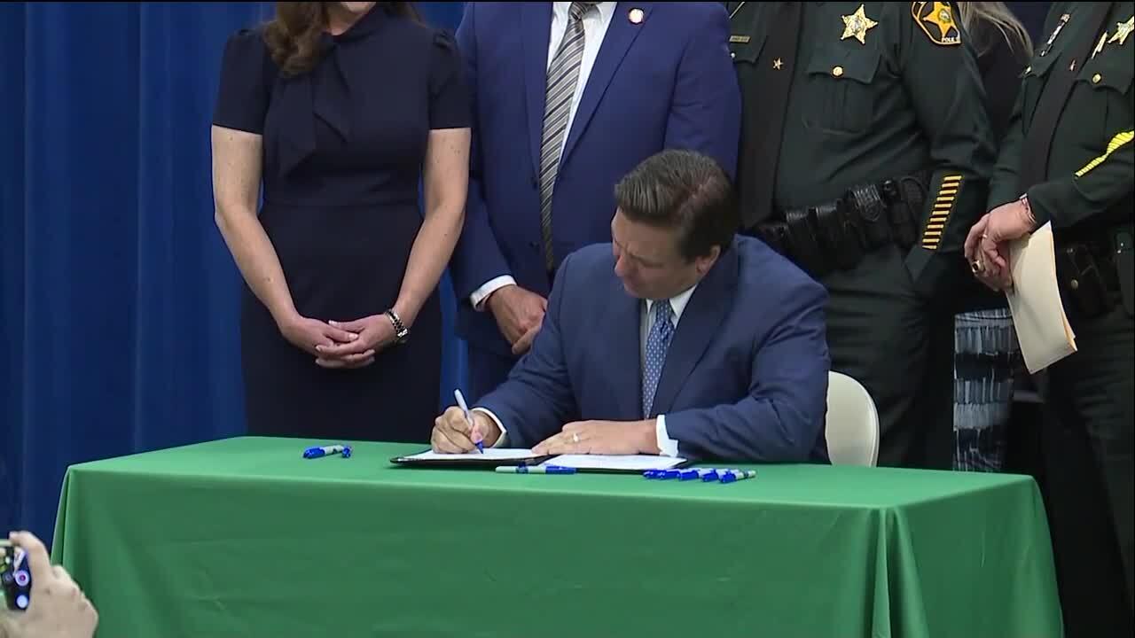 "Gov. Ron DeSantis signs ""anti-riot"" bill"
