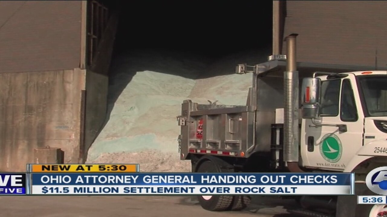 Ohio cities get millions because of rock salt