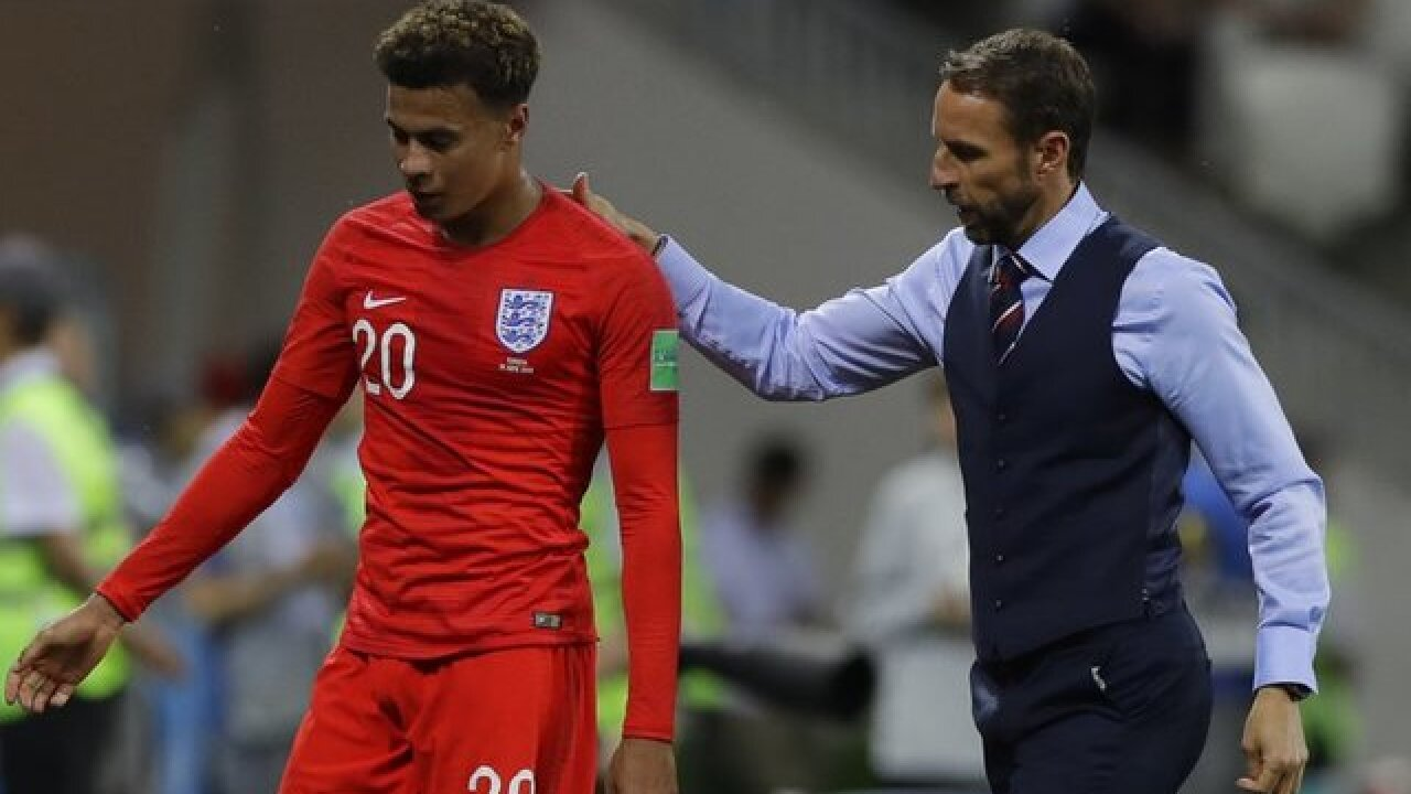 low priced 2b95a 45251 Dele Alli misses training for England at World Cup