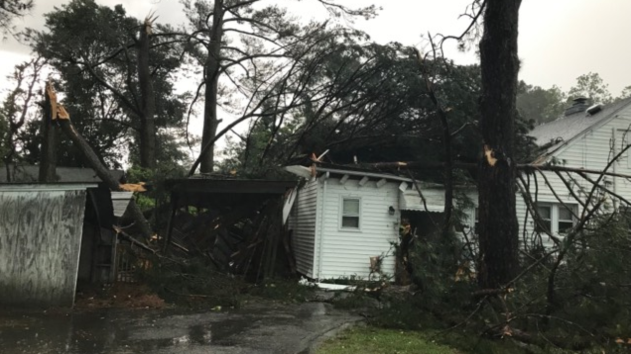 Confirmed tornado touches down in Suffolk, causesdamage