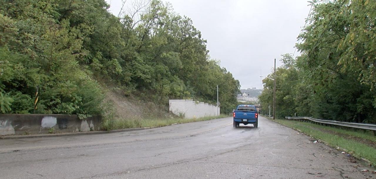 Crews built a retaining wall along Elberon Avenue in 2019 to stop landslides.