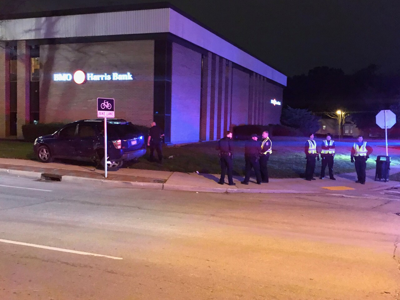 Milwaukee Police Department squad involved in Wauwatosa crash
