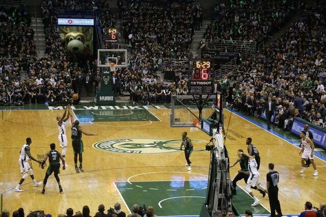 Milwaukee fans help propel Bucks to Playoff Win over Celtics [PHOTOS]