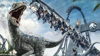Jurassic World VelociCoaster rendering