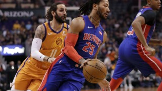 Pistons G Derrick Rose out at least two weeks after spraining ankle