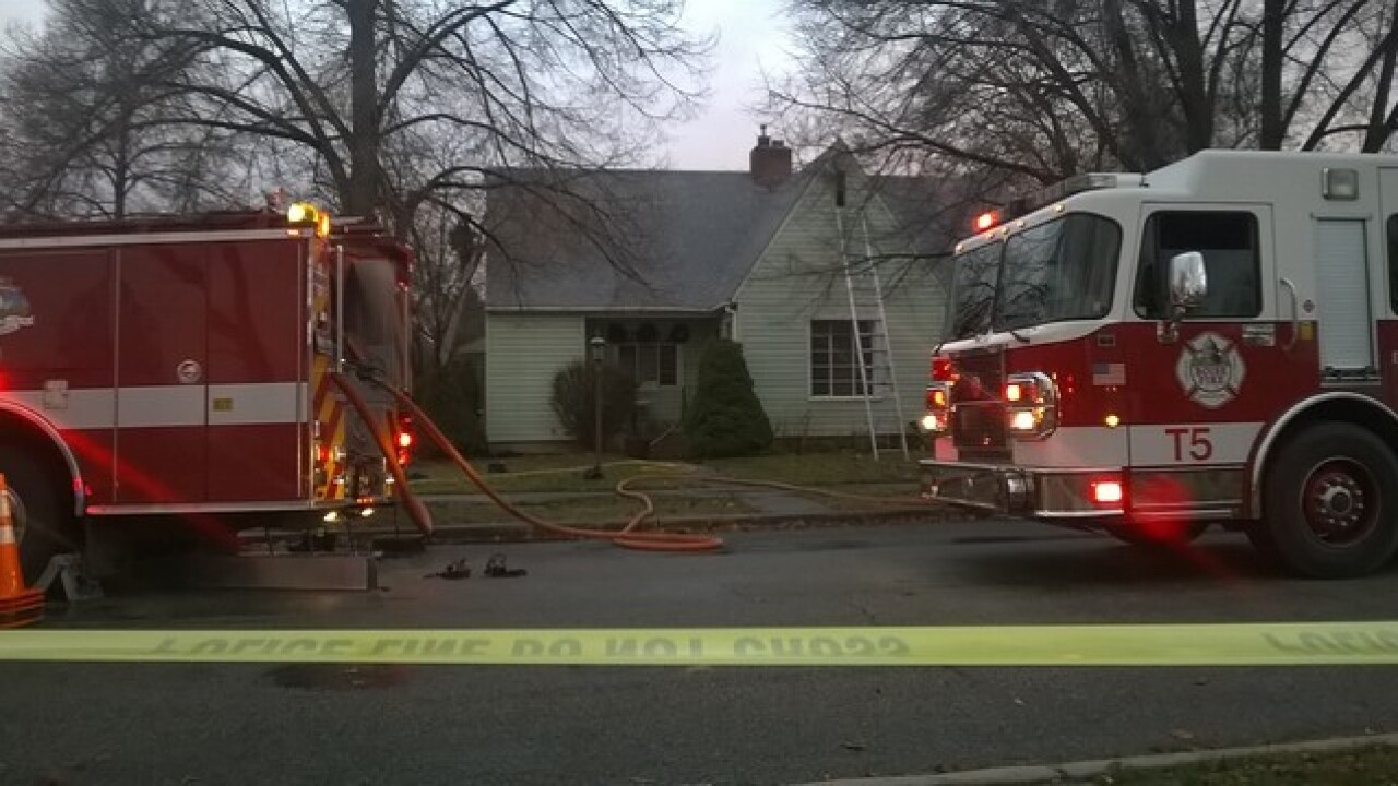 Dog injured in house fire discharged from vet
