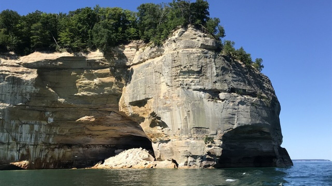 Woman falls, dies while taking photos at Michigan's Pictured Rocks National Lakeshore
