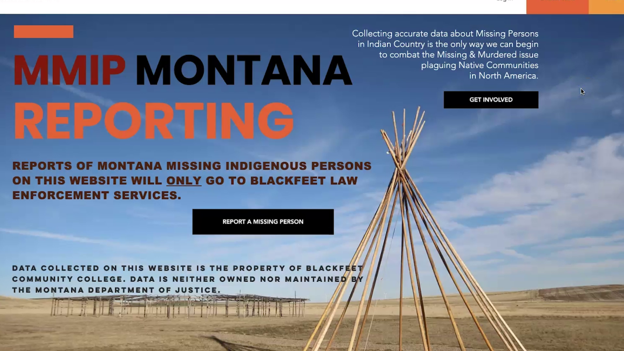 Missing & Murdered Indigenous Persons website