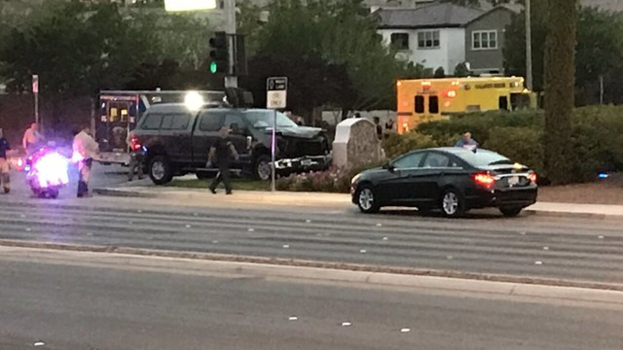 Passenger fighting for life after crash at Valley View Boulevard, Southern Highlands Parkway