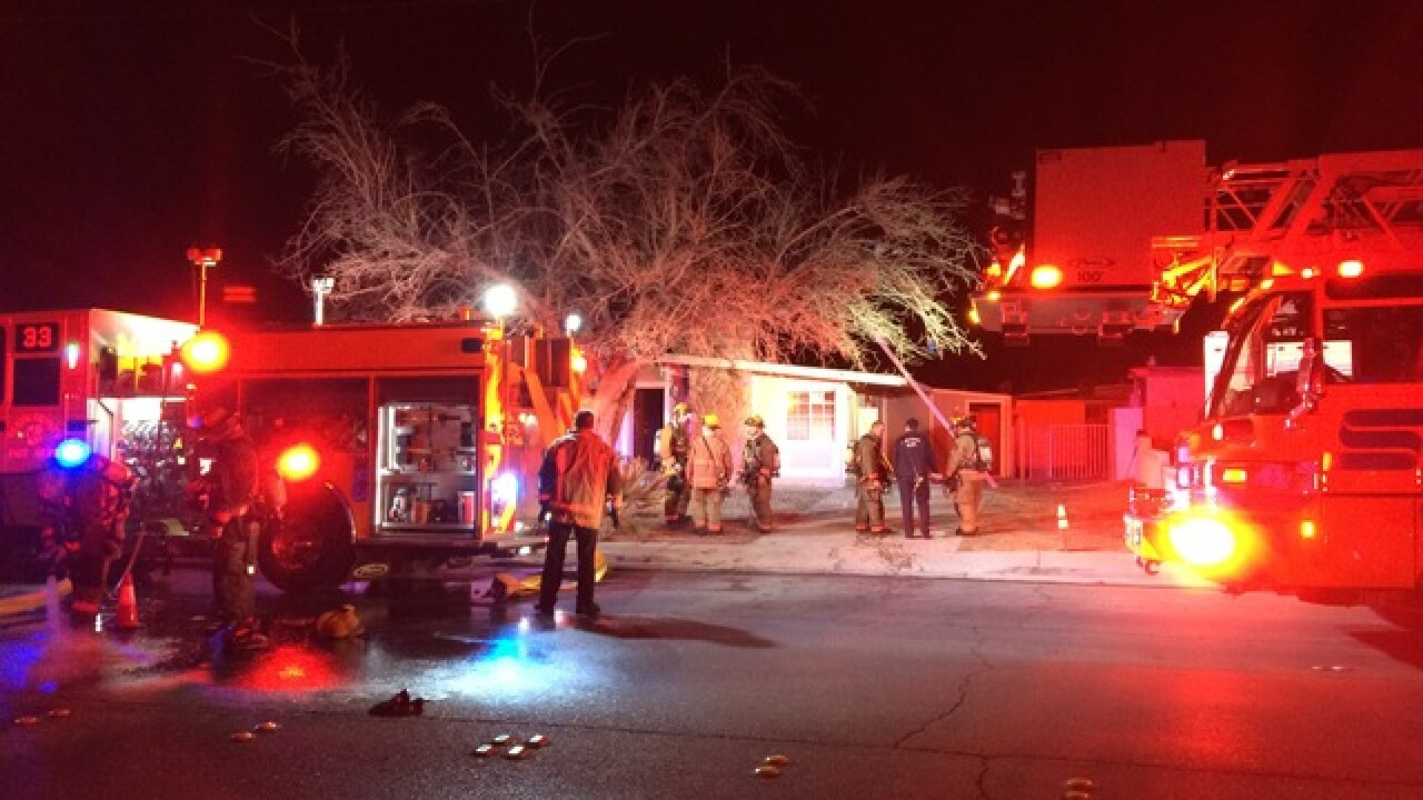 Vacant home catches fire on Vegas Valley Drive