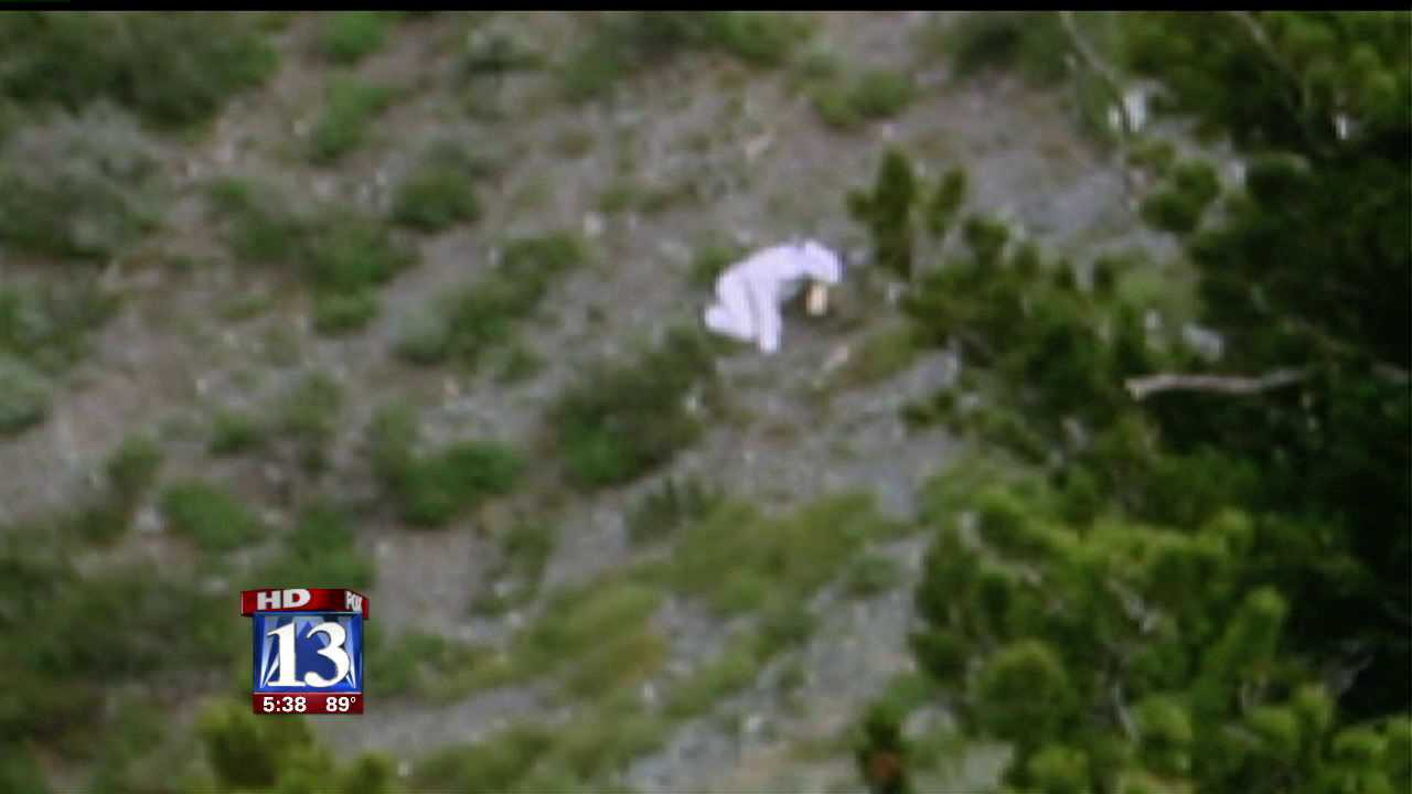 Photographer says 'Goatman' was descending peak to join herd