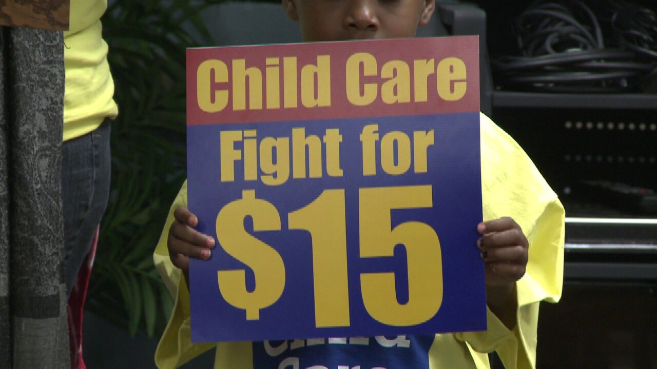 Child care workers urge for $15 hour under new Virginia child careplan