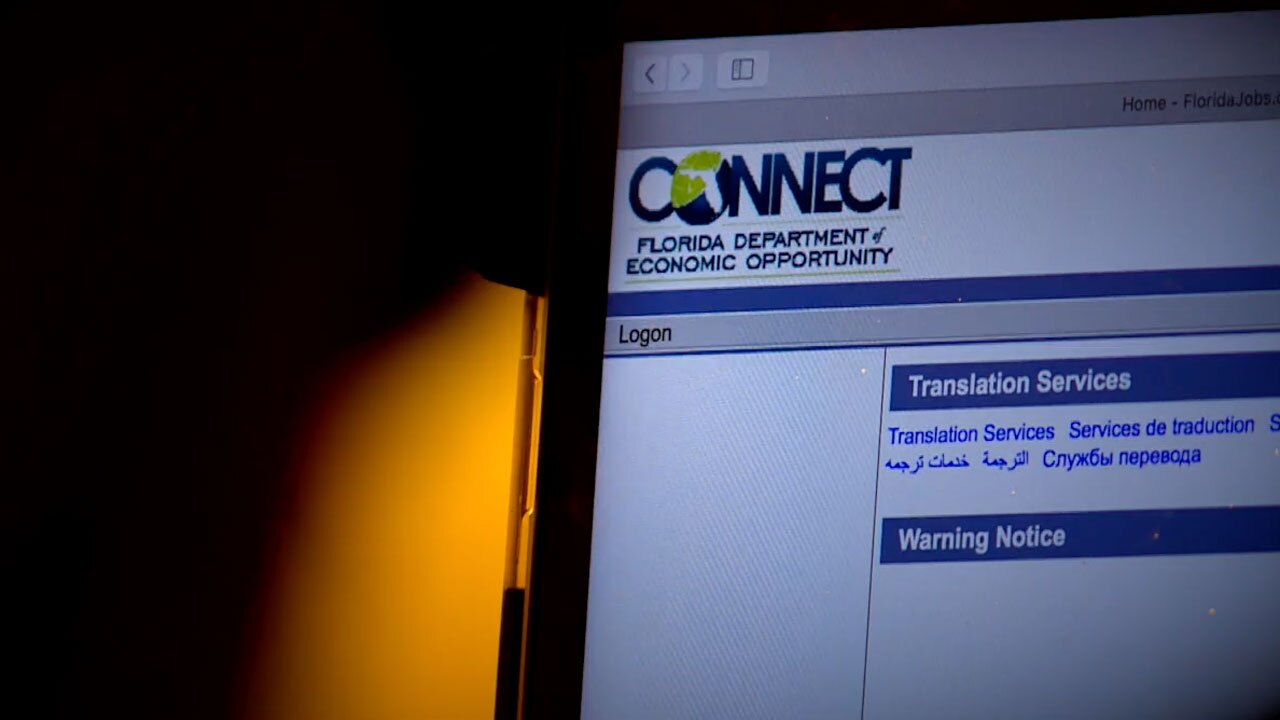 Florida DEO Connect web page