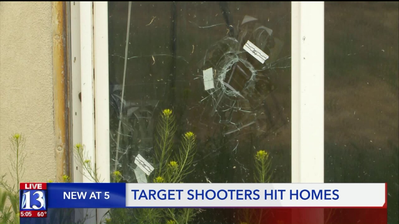 Weber homes hit by stray bullets