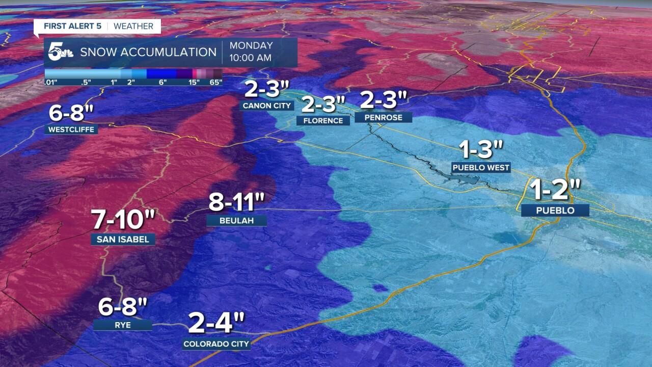 arkansas river snow forecast