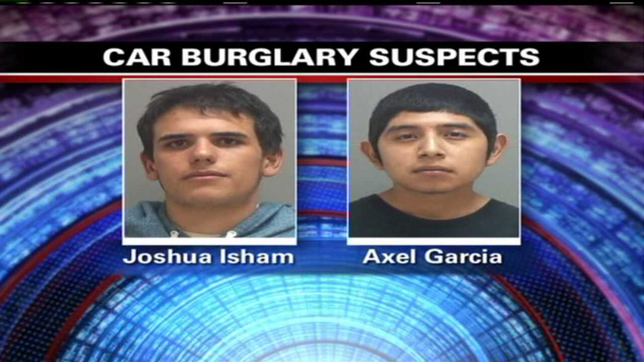 Two suspects arrested in car burglary spree