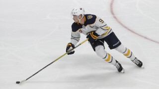 Eichel extends point streak to 17 games but Sabres fall to Maple Leafs 5-3