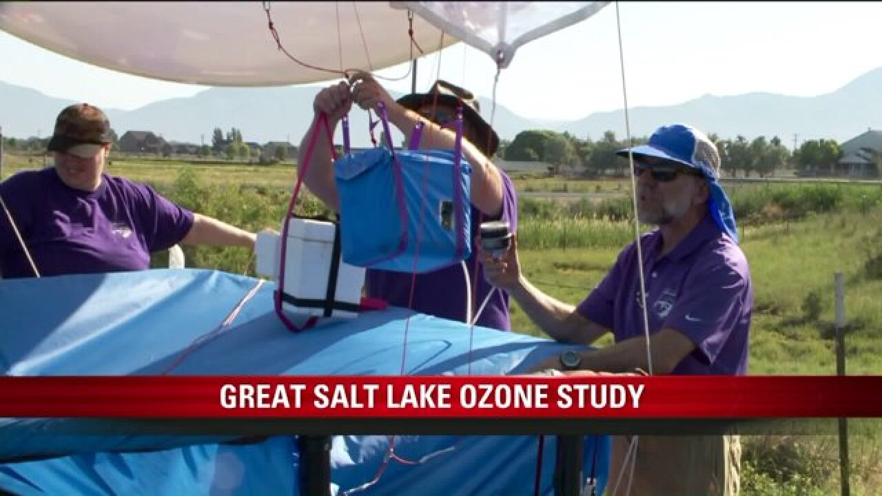 Researchers working to determine why ozone is increasing around Great Salt Lake
