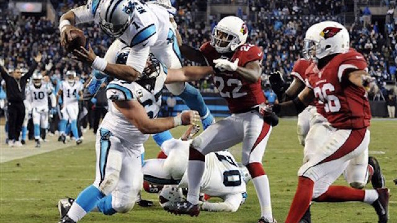 Panthers rout Cardinals, advance to Super Bowl