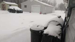 November snow falls across Western New York