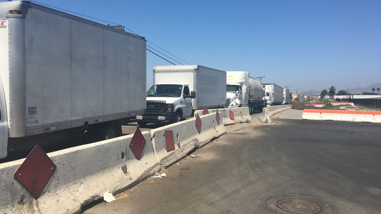 otay mesa border truck outage 2