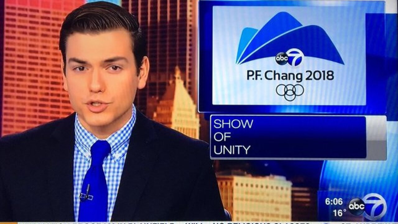 TV station uses 'P.F. Chang' in Olympics graphic