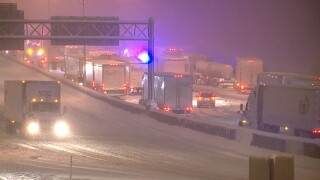 I-75 crash and snow