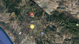 INTERACTIVE FIRE MAP: Multi-acre blaze threatens homes in Fallbrook